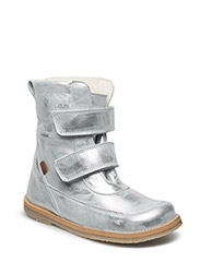 Winterboots with velcro - SILVER
