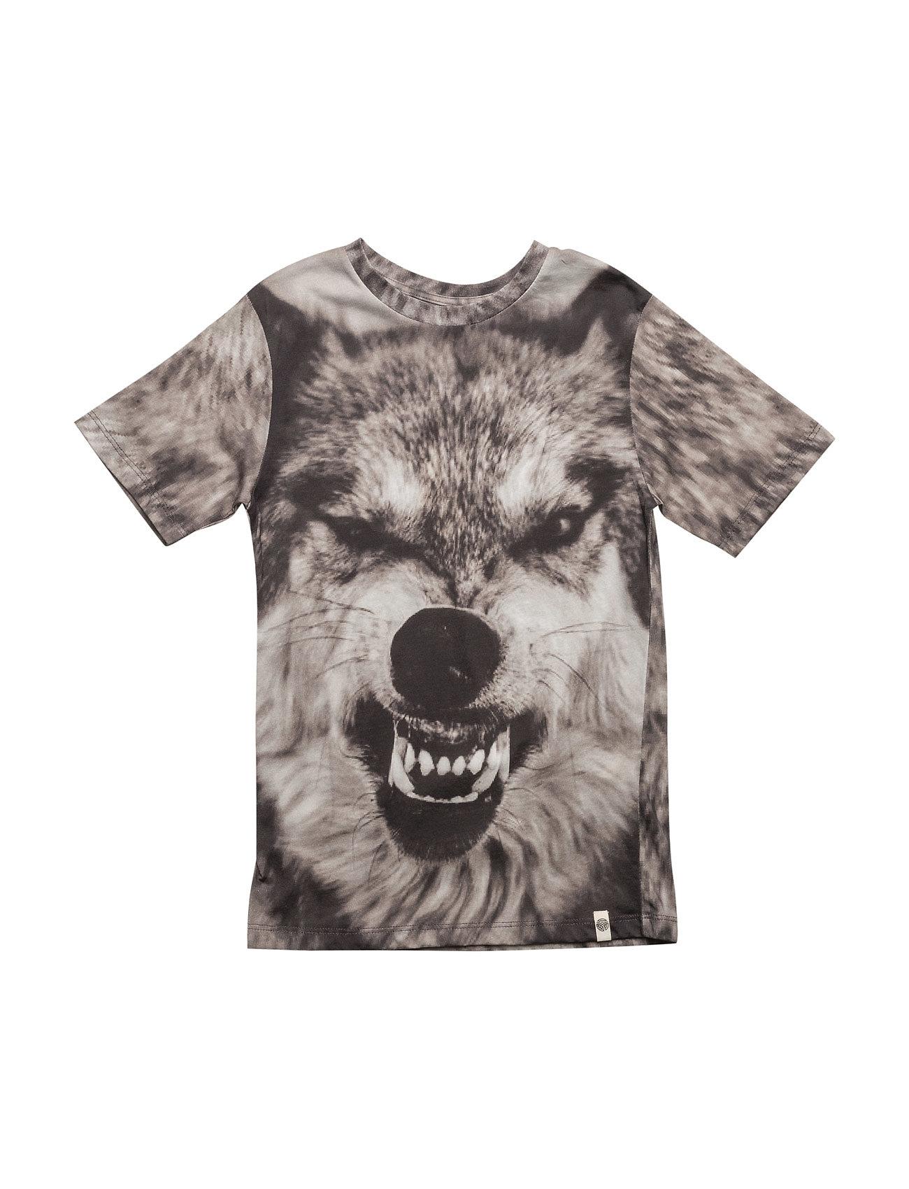 Basic Ss Tee Wolf Aop Popupshop Kortærmede t-shirts til Børn i
