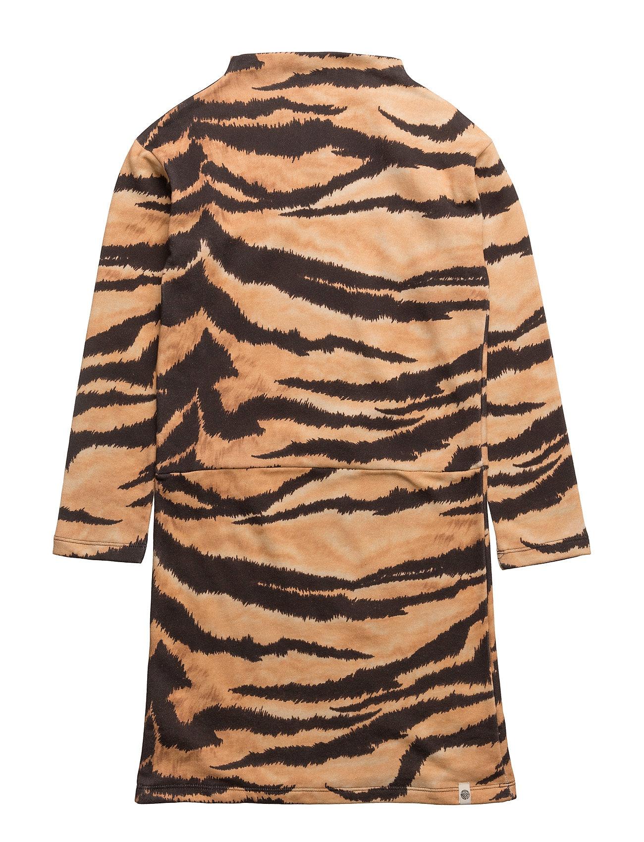 Lecce Dress Brown Tiger Aop Popupshop Kjoler til Børn i