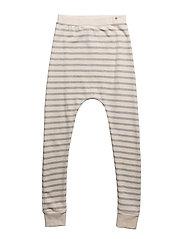 Baggy Leggings Navy Yarn Dyed Stripes - NAVY
