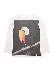 Basic Roll Up LS Tee White With Toucan - WHITE WITH TOUCAN
