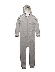 Hoodie Suit Grey Melange - GREY MELANGE