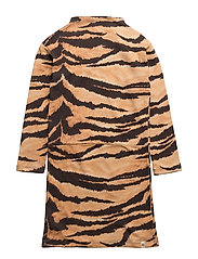 Lecce Dress Brown Tiger AOP - BROWN TIGER