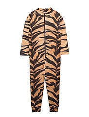 Lecce Jumpsuit Brown Tiger AOP - BROWN TIGER