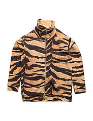Lecce Zipper Sweat Brown Tiger AOP - BROWN TIGER