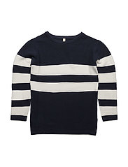 Loose Sailor Knit Navy / Off White - NAVY