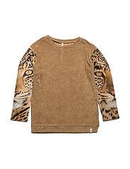 Los Feliz Blouse Cardboard Terry/Leopard - CARDBOARD