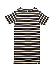 Maritime Dress Navy/Off White Stripes - NAVY/OFF WHITE STRIPES