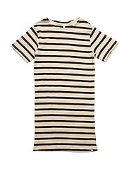 Maritime Dress Off White/Navy Stripes - OFF WHITE/NAVY STRIPES