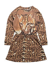 Robbie LS Dress Cat AOP - CAT