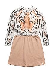 Robbie Dress Tiger On Peach - TIGER ON PEACH