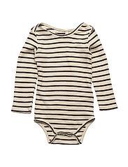 Supreme Rib Baby Body Off White/Navy Stripes - OFF WHITE/NAVY STRIPES