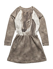 Robbie LS Dress Fawn AOP - FAWN