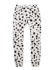 Baggy leggings - WHITE LEO