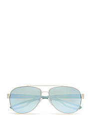 Aviator - SILVER RUBBER/GREEN MIRROR SILVER