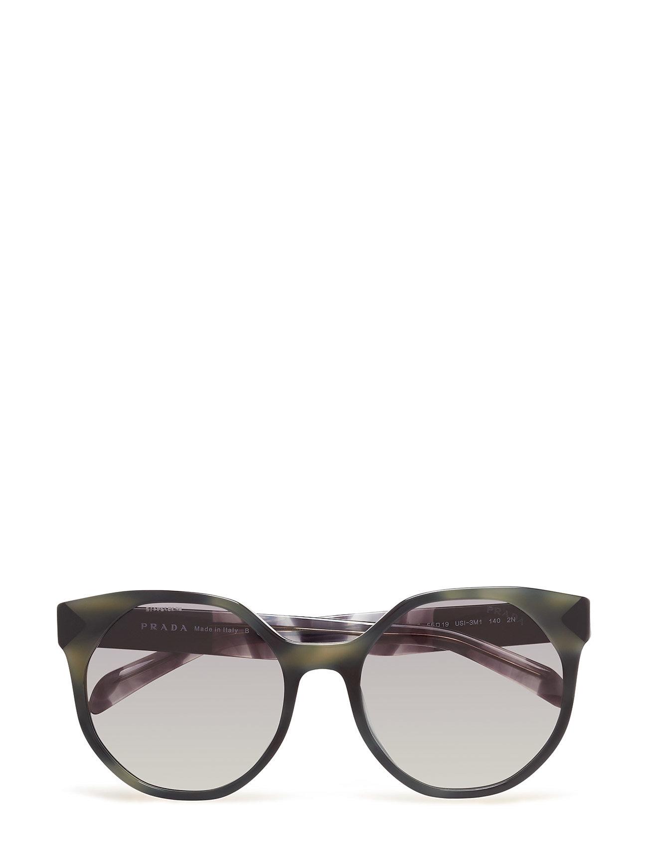 Round Frame Prada Sunglasses Solbriller til Damer i