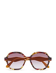 WOMEN'S SUNGLASSES - HAVANA/EARS BORDEAUX YELLOW