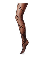PP SHEER DIAMOND TIGHTS - BLACK