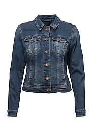 Sira Denim Jacket Long Sleeves - MEDIUM BLUE DENIM