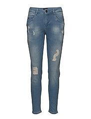 Nadja Highwaist ankle length Jeans - LIGHT BLUE DENIM