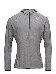 L/S HOODED TOP - GRAY
