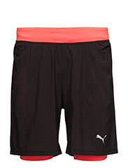 Faster than you 2in1 Short - PUMA BLACK-RED BLAST