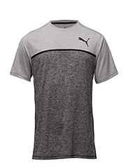 Bonded Tech SS Tee - LIGHT GRAY HEATHER-DARK GRAY H