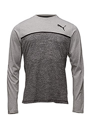 Bonded Tech LS Tee - LIGHT GRAY HEATHER-DARK GRAY H