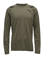 Bonded Tech LS Tee - OLIVE NIGHT HEATHER