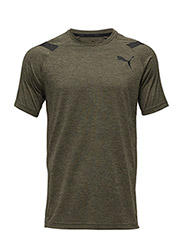 Bonded Tech SS Tee - OLIVE NIGHT HEATHER