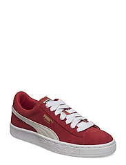 SUEDE JR - HIGH RISK RED-WHITE