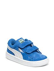 SUEDE 2 STRAPS KIDS - SNORKEL BLUE-WHITE
