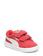 SUEDE 2 STRAPS KIDS - HIGH RISK RED-WHITE