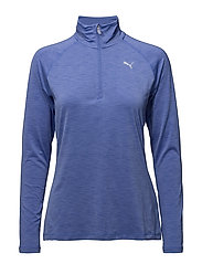 Core-Run L/S HZ Top W - BAJA BLUE HEATHER