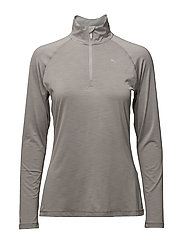 Core-Run L/S HZ Top W - LIGHT GRAY HEATHER