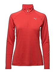 Core-Run L/S HZ Top W - POPPY RED HEATHER