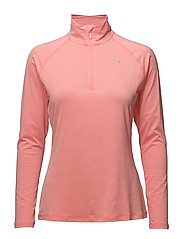 Core-Run L/S HZ Top W - SOFT FLUO PEACH HEATHER