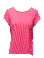 Dancer Drapey Tee - KNOCKOUT PINK HEATHER-STRIPE