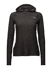 Run Hooded Top W - DARK GRAY HEATHER