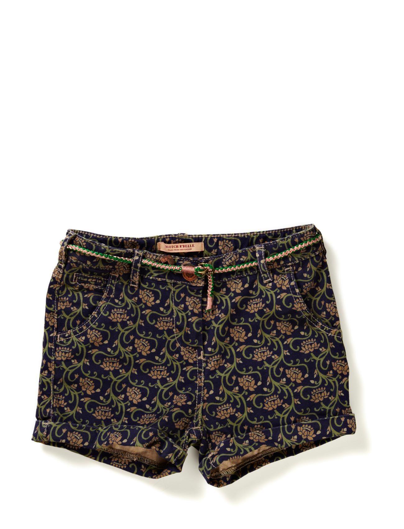 Boyfriend Fit Shorts + Belt