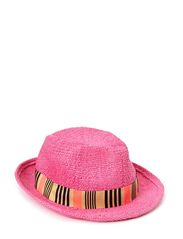 Summer straw hat - 321-neon pink