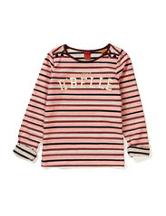 Boat neck tee in heavier jersey quality - dessin D