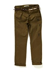 Chino pants in pima qlty + belt - dessin A
