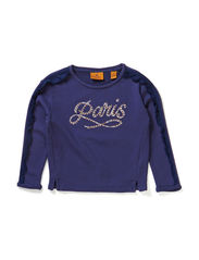 Boxy fit crew neck sweat with embellishments - dessin E