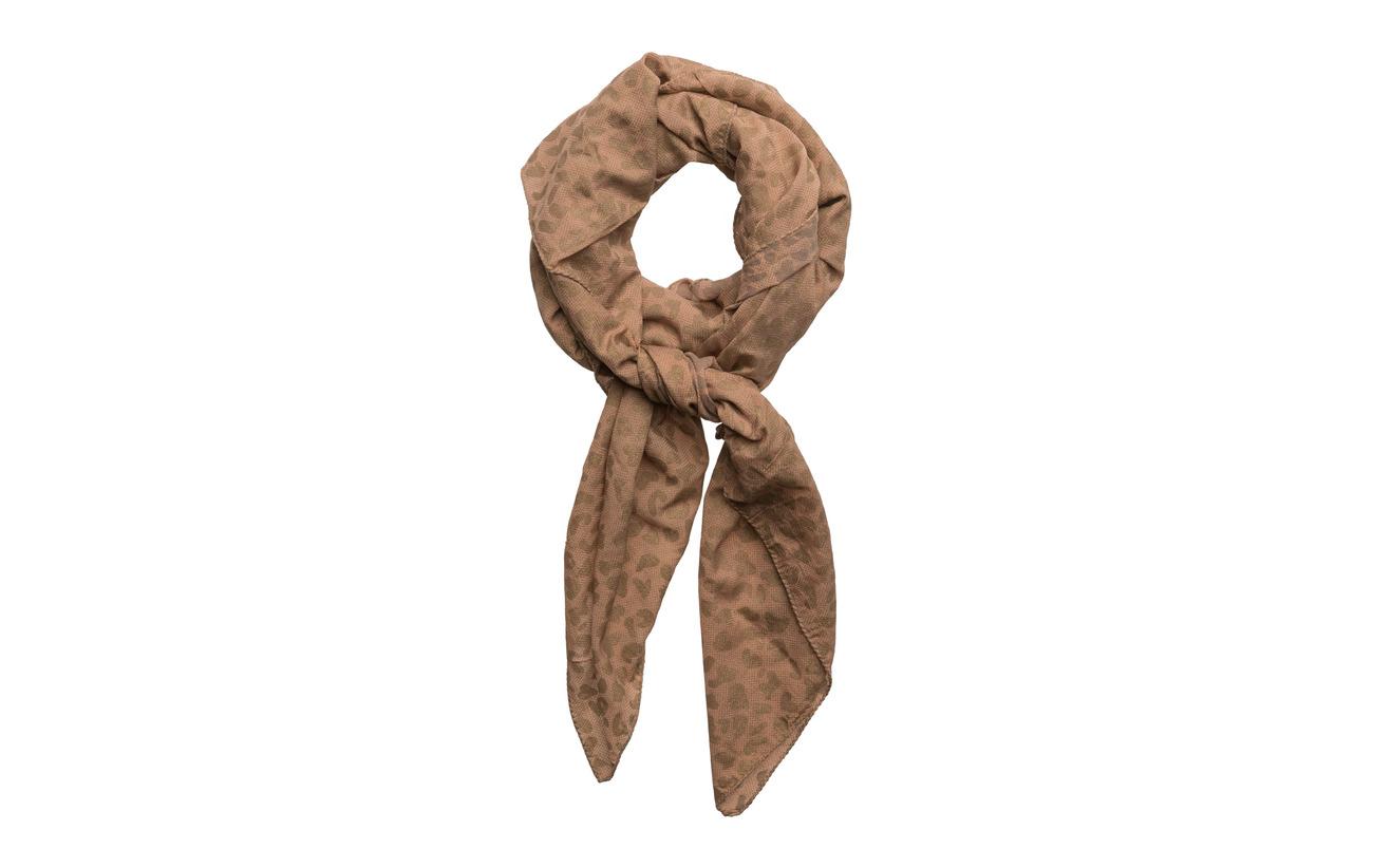 Rabens Saloner Gold print scarf