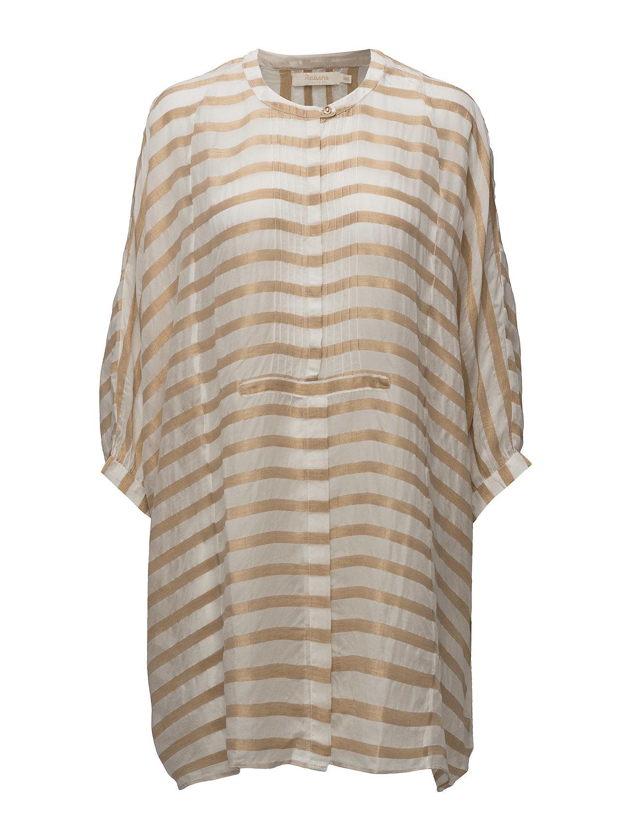 rabens saloner Metallic stripe shirt dress fra boozt.com dk