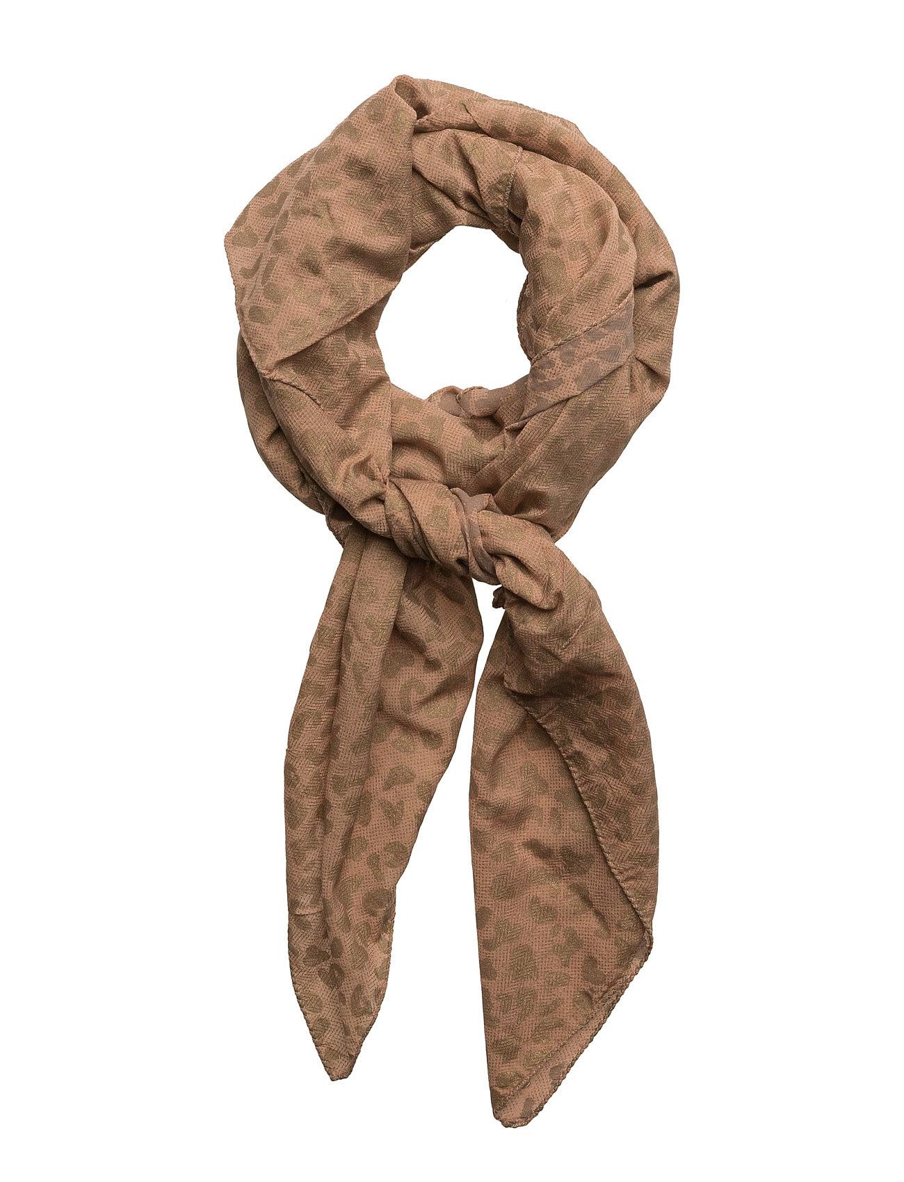 Gold print scarf fra rabens saloner fra boozt.com dk