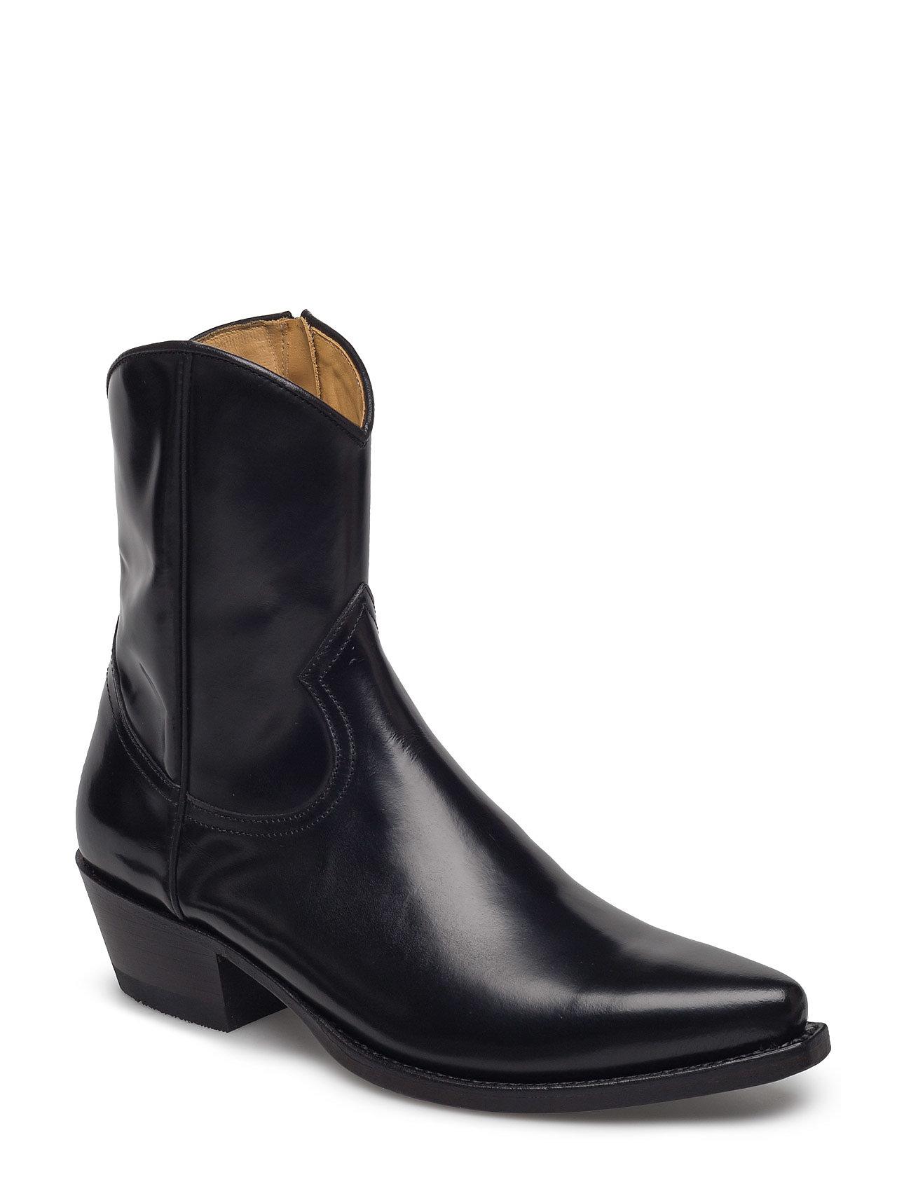 Western Zip Boot Rabens Saloner Støvler til Damer i Sort