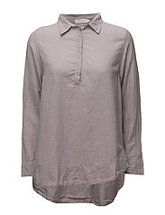 Dipped hem top - LIGHT GREY