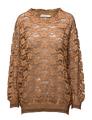Open work o/s top - GOLD
